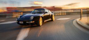 Porsche in voller Fahrt